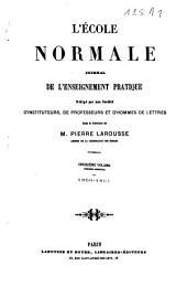 L'école normale: journal de l'enseignement pratique, Volume 5