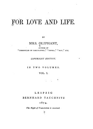 For Love and Life PDF