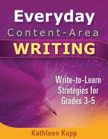 Everyday Content area Writing PDF