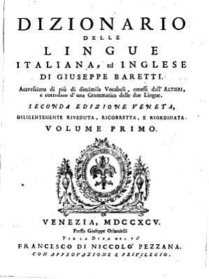 Dizionario delle lingue italiana  ed inglese PDF