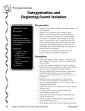 Environmental Print & Phonological Awareness: Beginning-Sound Isolation