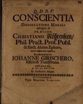 Conscientia dissertatione morali descripta