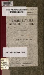 Martin Luthers geistliche Lieder