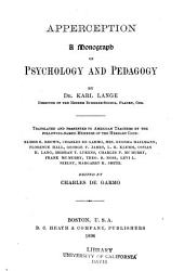 Apperception: A Monograph on Psychology and Pedagogy