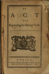 An Act for Regulating the Baking Trade