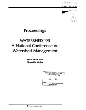 Watershed 93 PDF