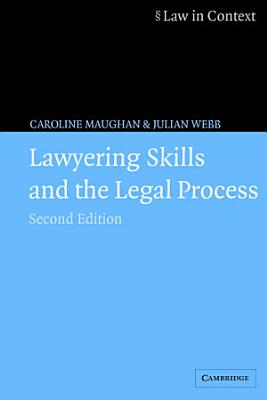 Lawyering Skills and the Legal Process PDF