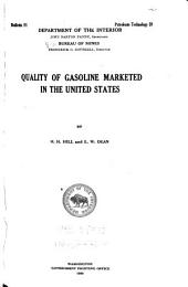 Quality of Gasoline Marketed in the United States: Issues 191-198