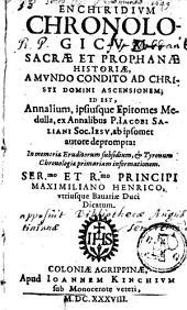 Enchriridium chronologicum sacrae et prophanae historiae
