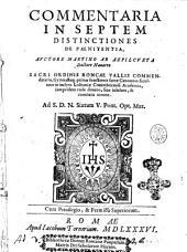 Commentaria in septem distinctiones de paenitentia. Auctore Martino ab Azpilcueta ..