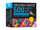 Origami Paper 500 Sheets Rainbow Patterns 4 (10 CM)