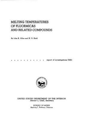Melting Temperatures of Fluormicas and Related Compounds