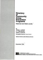 Directory of community crime prevention programs PDF