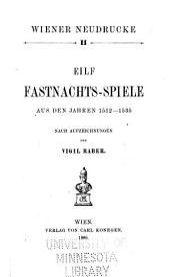 Wiener neudrucke: Band 11