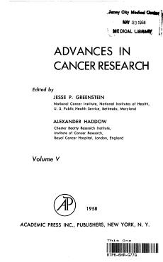 Advances in Cancer Research  Volume V PDF