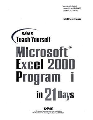 Sams Teach Yourself Microsoft Excel 2000 Programming in 21 Days PDF
