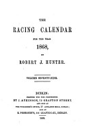 The Racing calendar  by R  Hunter PDF