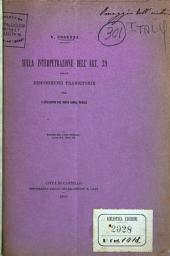 Sulla interpretrazione dell'art. 39 delle disposizioni transitorie per l'attuazione del nuovo Codice penale ...