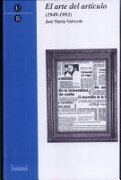 El arte del art  culo  1949 1993 PDF