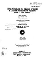 Driver Performance and Individual Differences in Attention and Information Processing  Driver inattention PDF