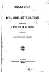Colección de leyes, circulares y resoluciones referentes al estado civil de las personas: para el uso de las oficinas del ramo en el estado