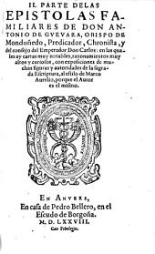 Epistolas Familiares: en las quales ay cosas notables, y razonamientos muy altos y curiosos ...