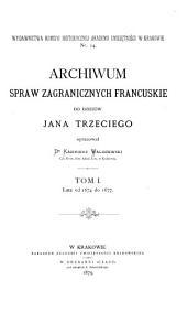 Acta historica res gestas Poloniae illustrantia ab anno 1507 usque ad annum 1795