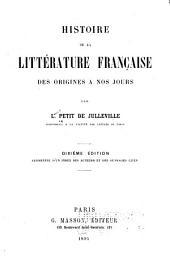 Histoire de la littérature française des origines a nos jours