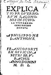 Explicatio proverbiorum Salomonis