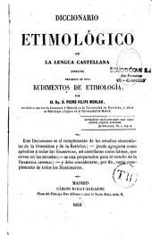 Diccionario étimologico de la lengua Castellana: ensayo