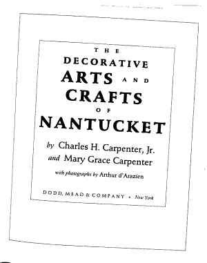 The Decorative Arts and Crafts of Nantucket