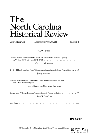 The North Carolina Historical Review PDF