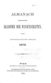 Almanach der kaiserlichen Akademie der Wissenschaften für das Jahr ...: Bände 29-30