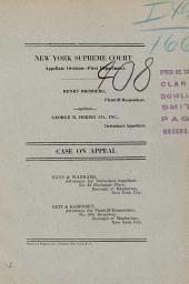 New York Supreme Court Case on Appeal