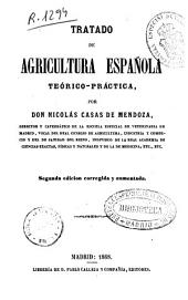 Tratado de agricultura española teórico-práctica