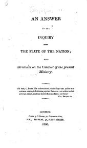 An answer to the Inquiry into the state of the nation