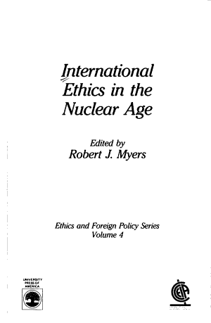 International Ethics in the Nuclear Age