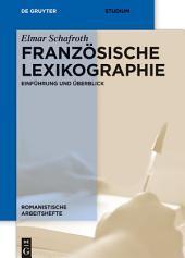 Französische Lexikographie: Einführung und Überblick