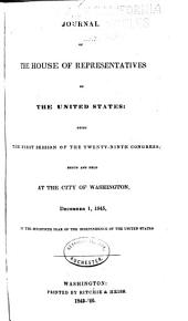 Journal of the House of Representatives of the United States: Volume 29, Issue 1