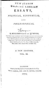 Essays, Political, Economical, and Philosophical: Volume 3