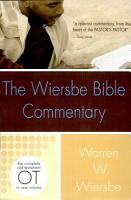 The Wiersbe Bible Commentary  Old Testament PDF
