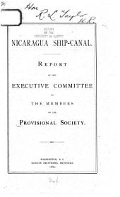 Nicaragua Ship Canal ...: Letter Signed by J. Jay Williams