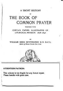 A Short History of the Book of Common Prayer Book