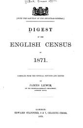 Digest of the English Census of 1871