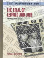The Trial of Leopold and Loeb PDF