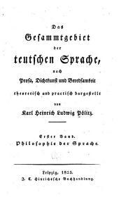 bd. Philosophie der sprache