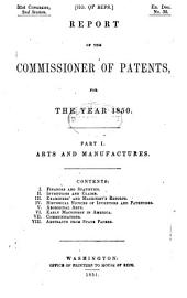 Commissioner of Patents Annual Report