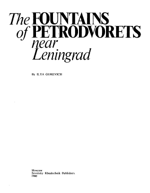 The Fountains of Petrodvorets Near Leningrad PDF