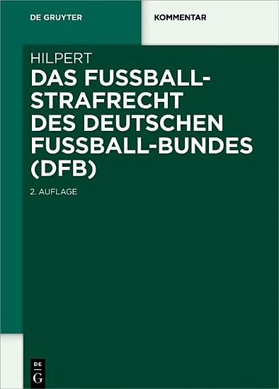 Das Fu  ballstrafrecht des Deutschen Fu  ball Bundes  DFB  PDF