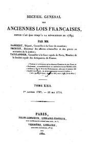 1er Janvier 1737 - 10 Mai 1774